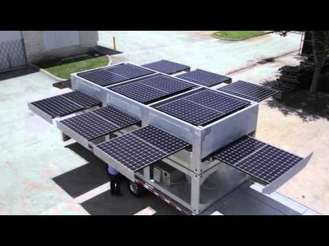 Ecosphere's Patented Ecos PowerCube® Technology - The World's Largest Mobile Solar Powered Generator