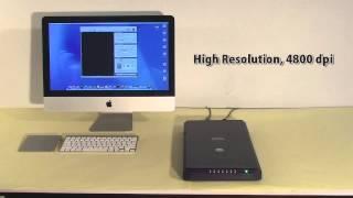 Microtek ScanMaker i280 A4 flatbed book photo scanner Video