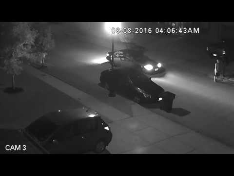 Saratoga Security Camera on 8/8/16, attempted car break in