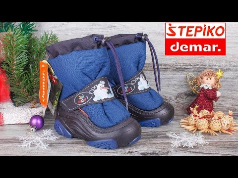 Demar Snowmen 2 NC 4010NC - Детские зимние сапоги . Видео обзор от STEPIKO