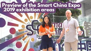 Preview of the Smart China Expo 2019 exhibition ar...