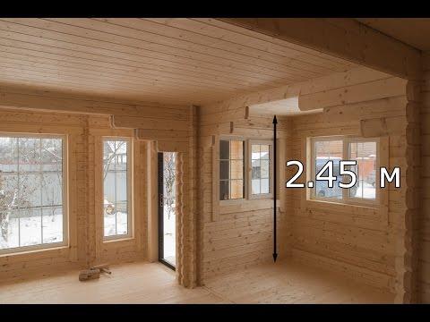Обзор дома 6.0х7.5 Звезда из двойного мини-бруса в Химках [#К35]