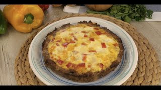 Meat and egg pie: it's even tastier filled with mozzarella and bell peppers!