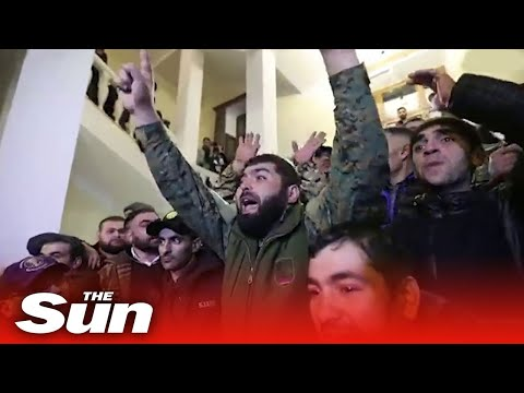 Armenian protesters storm gov building after Nagorno-Karabakh peace deal