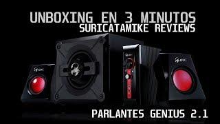PARLANTES GAMING GENIUS GX SW-G2.1 1250 - UNBOXING EN 3 MINUTOS