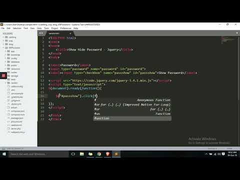 #jquery #html #php #web Simple Show/Hide Password in Jquery Html thumbnail