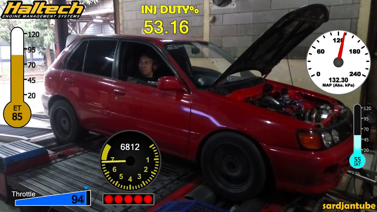 4WD Toyota Starlet EP81 4E-FTE - Haltech ECU