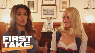 Molly Qerim Tries To Pronounce German Words | First Take | ESPN