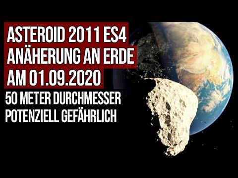 Asteroid 2011 ES4 - Annäherung am 01.09.2020 bis auf 0.32 LD - Potenziell gefährlich
