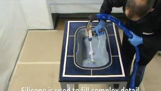 Spray silicone vacuum bag demo