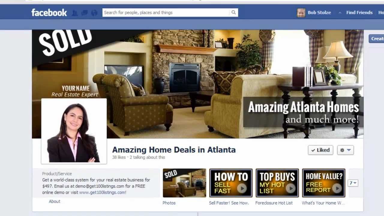 How to Add a New Tab to your Real Estate Facebook Page - YouTube