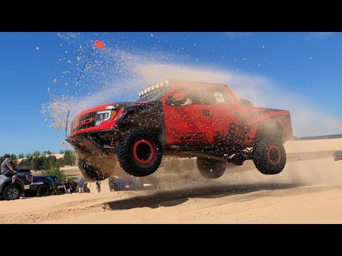 Ford Raptors Takeover Silver Lake Sand Dunes