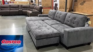 COSTCO FURNITURE SOFAS CHAIRS ARMCHAIRS HOME DECOR - SHOP WITH ME SHOPPING STORE WALK THROUGH 4K
