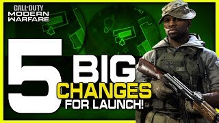 Top 5 Gameplay Changes to Expect for Launch! (Modern Warfare Leaks)