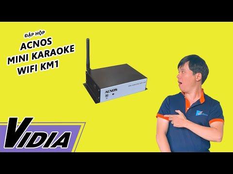 Đập Hộp Đầu Karaoke Giá Rẻ Acnos Mini Karaoke Wifi KM1 - Vidia Channel