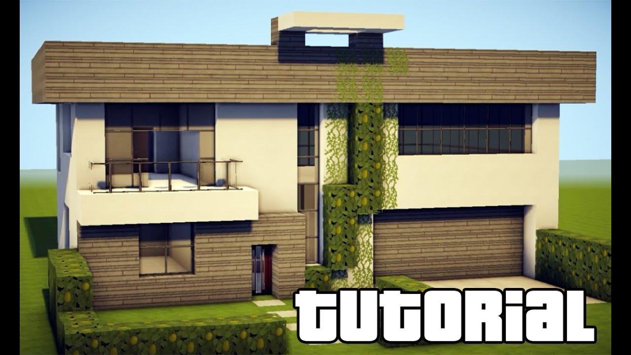 Minecraft como fazer uma casa moderna 207 youtube for Casa moderna 1 8