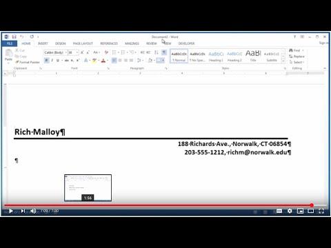 Create a Letterhead Template in Word