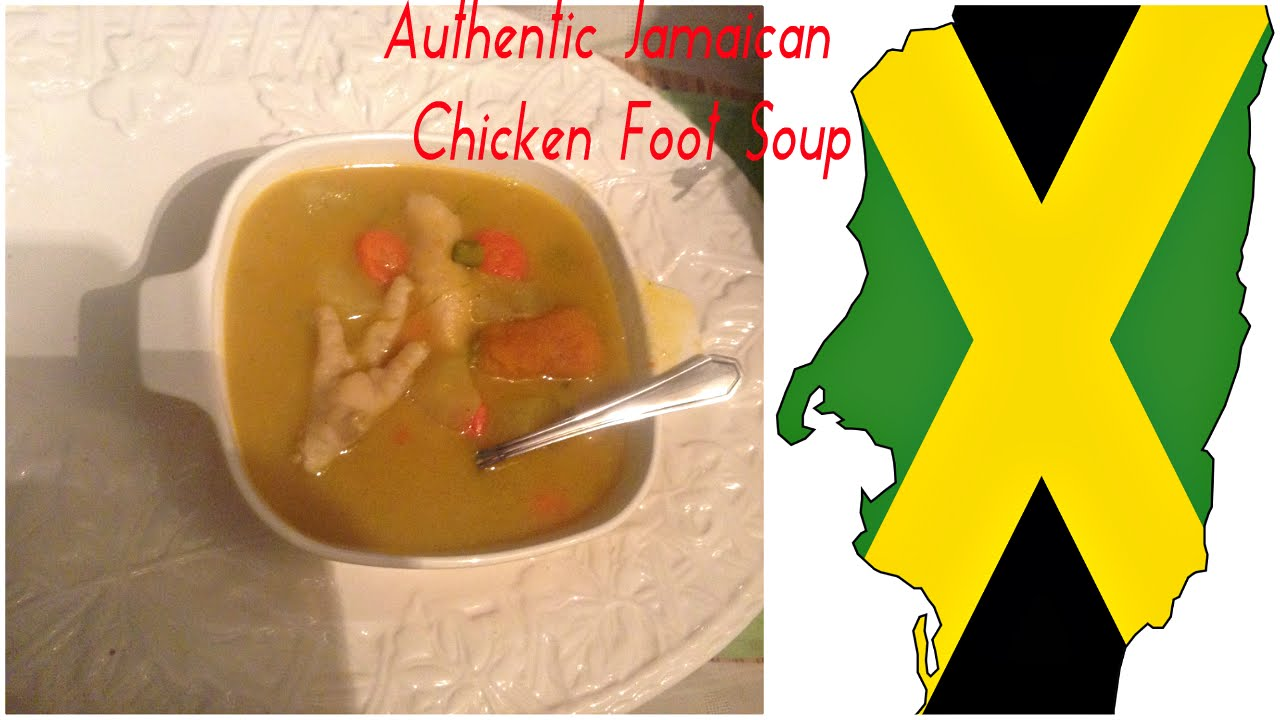 cook with me / jamaican chicken foot soup  youtube