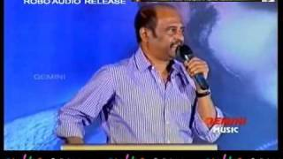 Thalaivar at Telugu Robo Audio Launch
