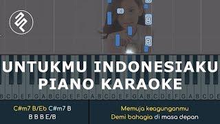 Gambar cover Shanna Shannon - Untukmu Indonesiaku - Piano Karaoke Instrumental / Chord Kunci / Lirik