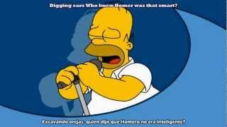 The Simpsons - Homer Face (Sub, Lyric - Español, English) Lady Gaga - Poker Face