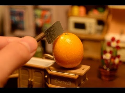 How Its Made - miniature orange juice!stopmotion cooking ASMR