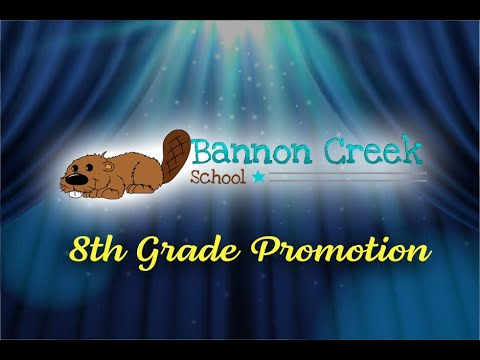 Bannon Creek School, 8th Grade Promotion