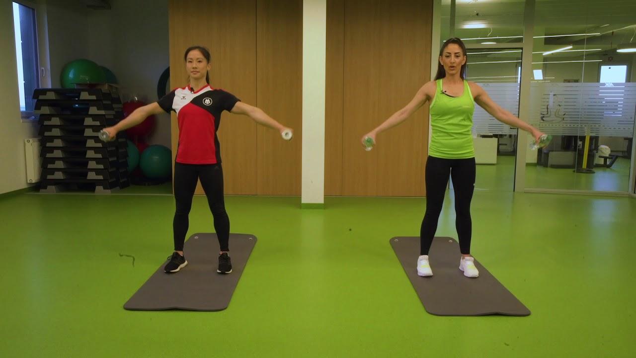 Download Gesund im Homeoffice: Workout mit Spitzenturnerin Kim Bui