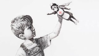 New Banksy art depicts nurse as superhero | Bright side