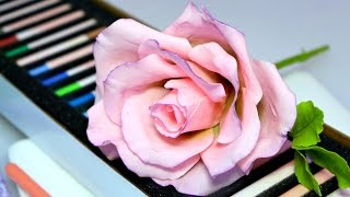 Изготовление розы из цветочной сахарной пасты - Украшение тортов с Натальей Фёдоровой
