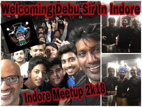 Welcoming Debashish Ghosh aka Debu Sir in Indore with Dj Sir | Indore Meetup | One World One Ride.