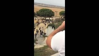 Pelea entre hooligans del xerez y ultras del cadiz