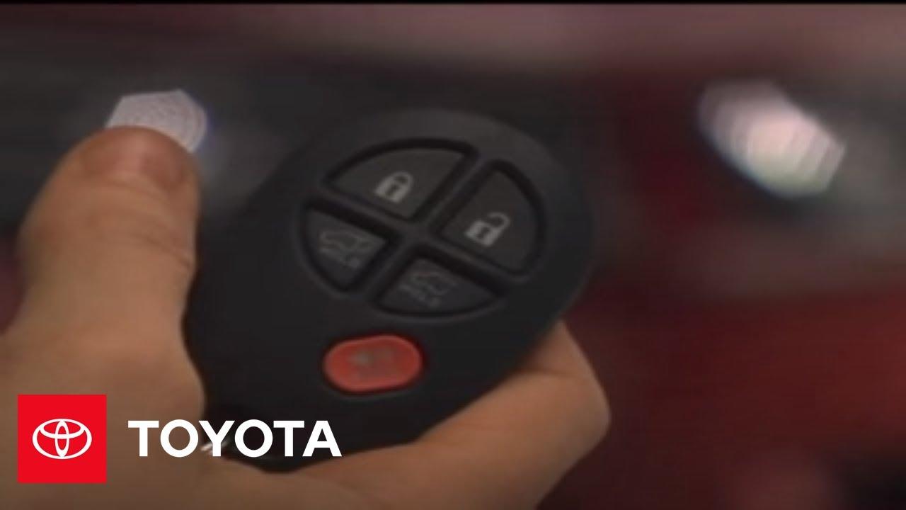 2007 2009 Highlander How To Remote Keyless Entry Toyota Youtube 2012 Rav4 Fuse Box