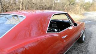 1967 CAMARO FACTORY RS SS 396 BENCH SEAT 4SPD SOLID AND STRAIGHT BEAUTIFUL BOLERO RED VERY NICE
