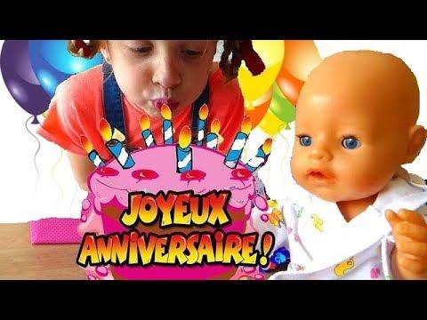 La Poupée BABY BORN Doll fête son ANNIVERSAIRE