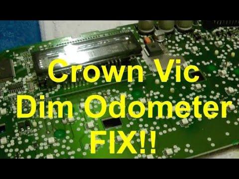 Ford Crown Vic P Pb Dim Odometer Fix
