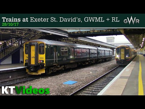 Trains at Exeter St Davids, GWML + RL - 28/10/17