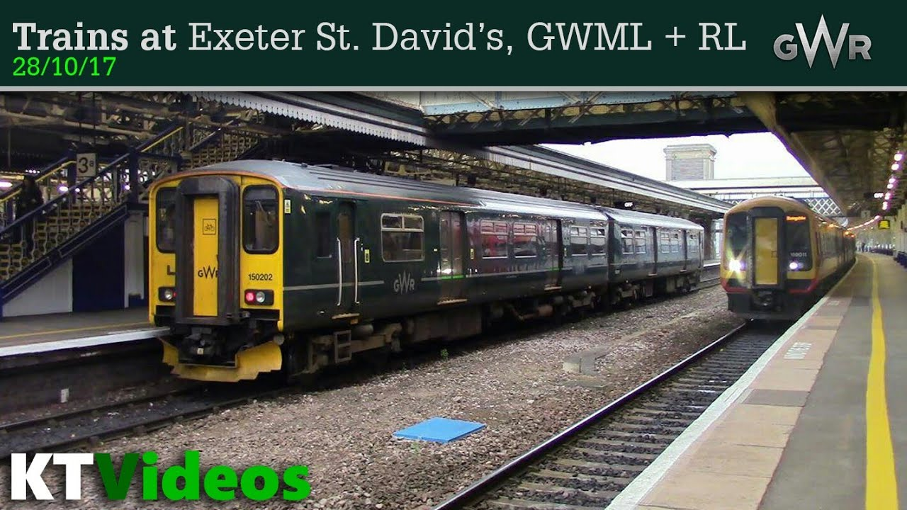 Trains At Exeter St Davids Gwml Rl 28 10 17 Youtube