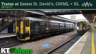 Trains at Exeter St Davids, GWML + RL - 28/10/17