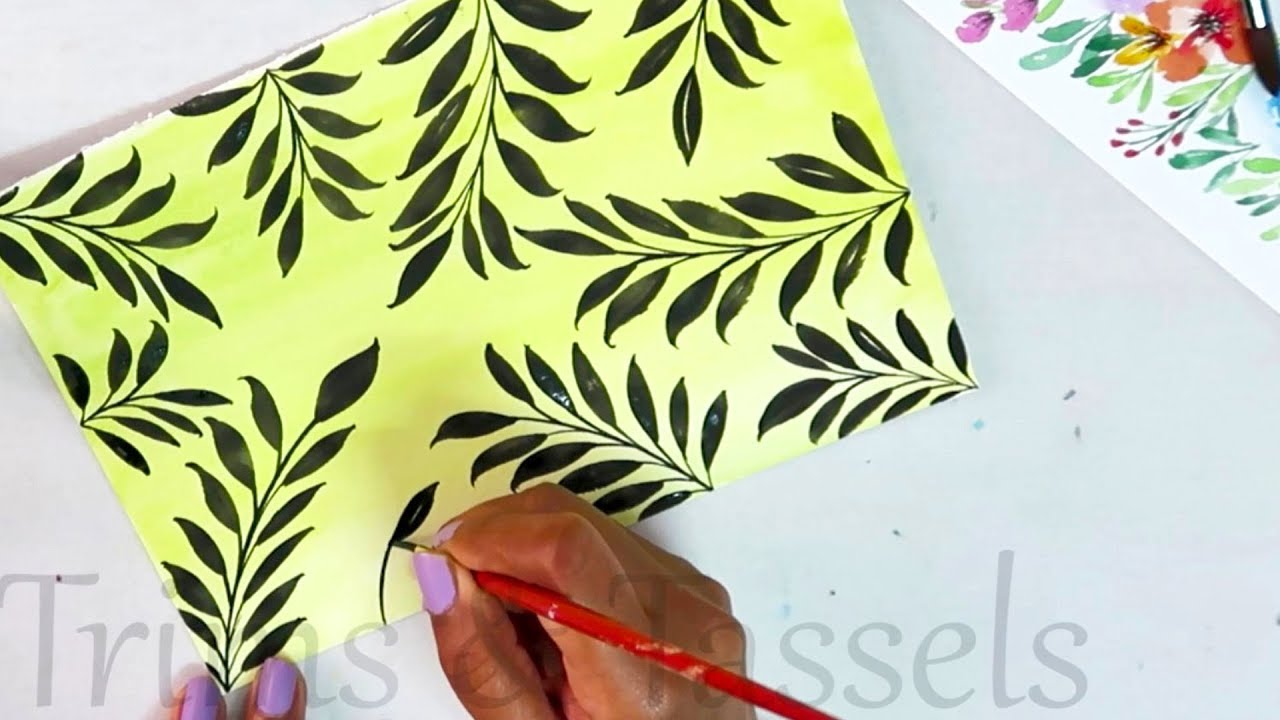 Diy Background Painting With Watercolors Art Craft Ideas Easy