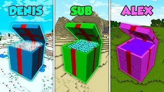 DENIS vs SUB vs ALEX - CHRISTMAS PRESENTS in Minecraft! (The Pals)
