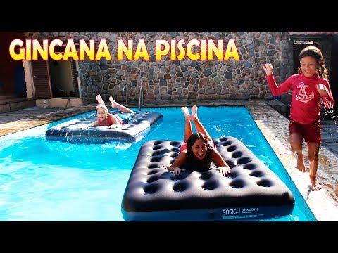 GINCANA NA PISCINA DA MARIA CLARA E JP!!!
