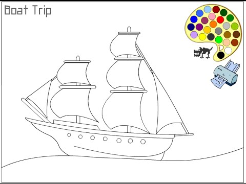 pirate ship coloring pages # 3