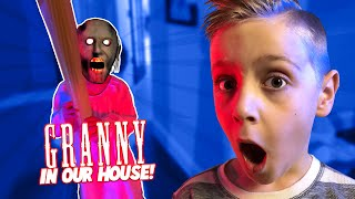 Escape GRANNY in Real Life family game (AVA GOES CRAZY!!) KIDCITY