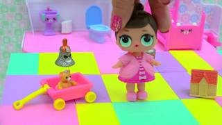 Toilet Potty Training LOL Surprise Baby Doll + Grossery Gang Series 3 Surprise Blind Bags