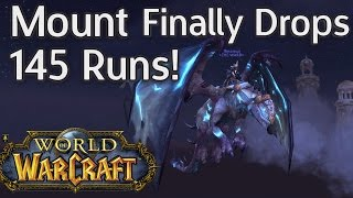 Mount Finally Drops - After 145 Runs REACTION! - Drake of The North Wind - World of Warcraft