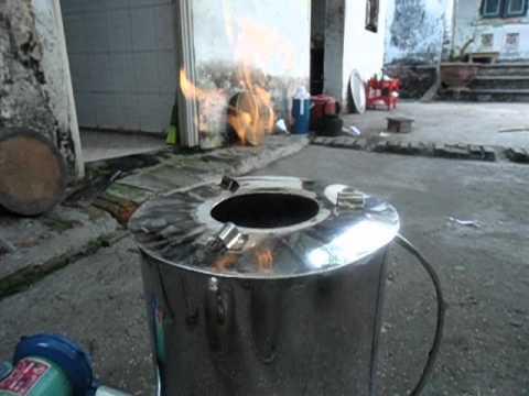bếp hóa khí đun bằng trấu