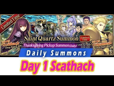 [FGO] Day 1 Scathach Shishou - Daily Summons Season 4! - Fate Grand Order