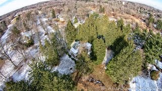 Aerial Drone: Abandoned School Grounds
