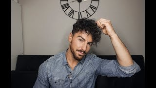 Rowan Row | Mens Hair Tutorial | Wavy Curls | Curly Hair